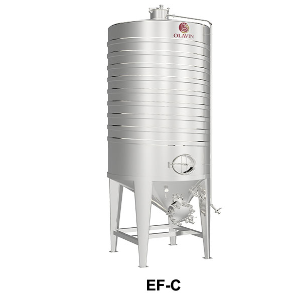 wine storage tank with jacket