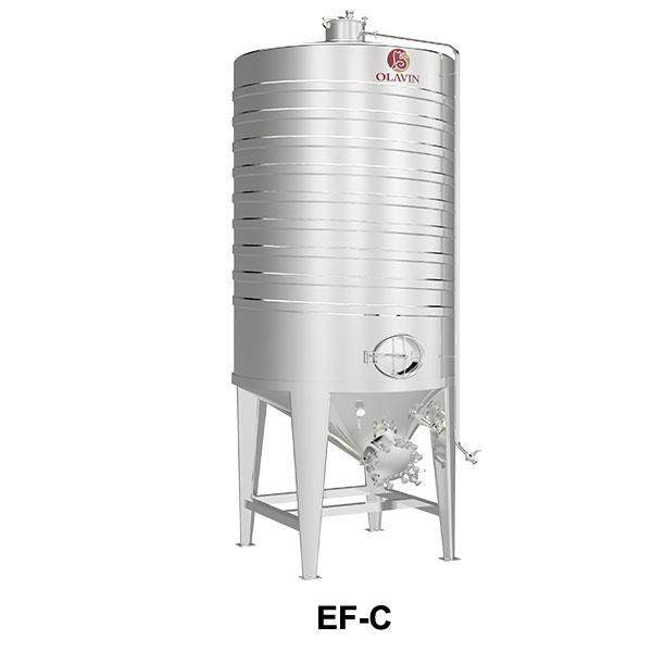 wine storage tank with jacket