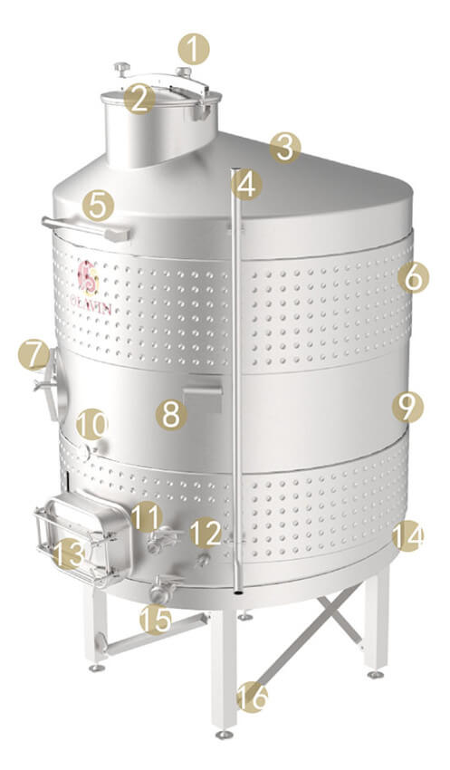 enclosed wine fermenter