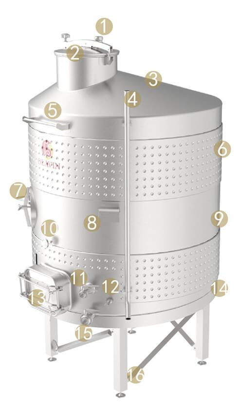 enclosed wine fermenter