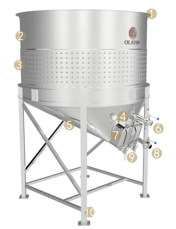 open top fermenter